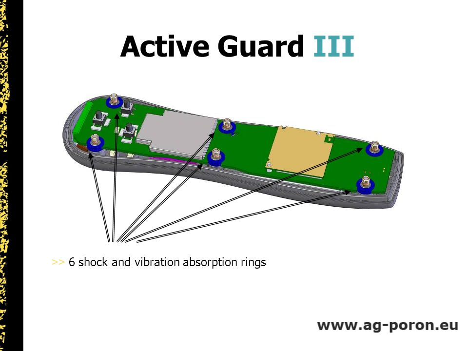 Active Guard III >> 6 shock and vibration absorption rings