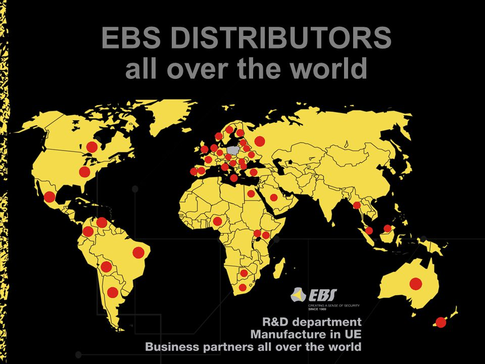 EBS DISTRIBUTORS all over the world