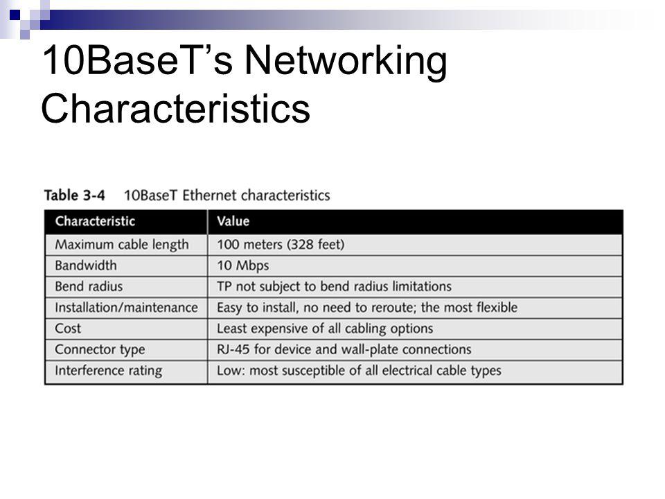 10BaseTs Networking Characteristics