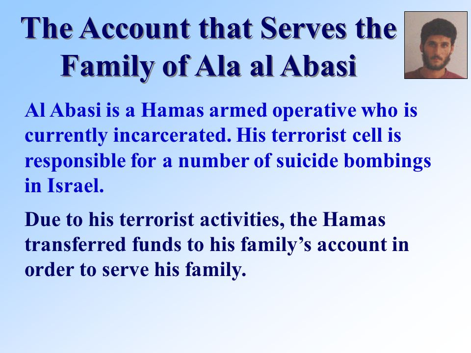 Al Abasi is a Hamas armed operative who is currently incarcerated.