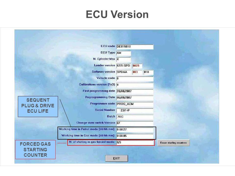 SEQUENT PLUG & DRIVE ECU LIFE FORCED GAS STARTING COUNTER ECU Version
