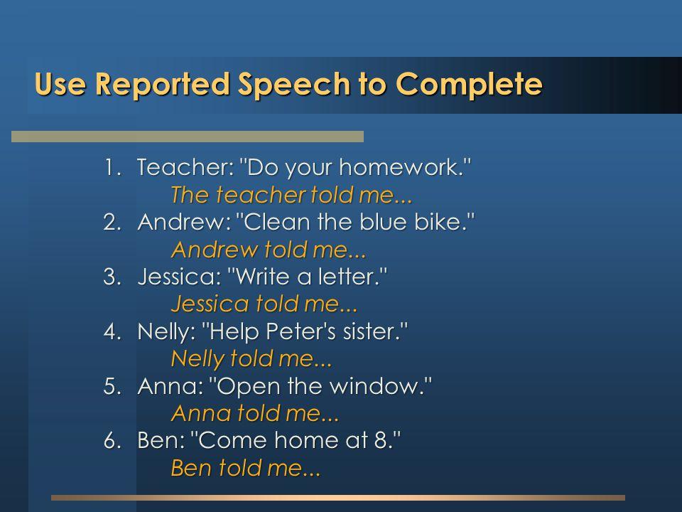 1.Teacher: