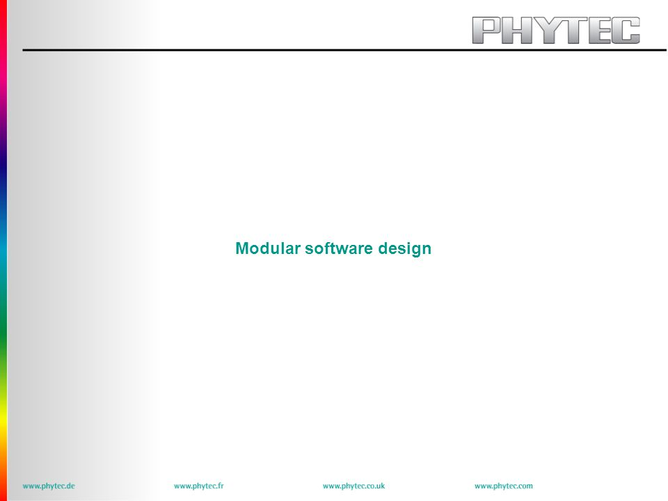 Modular software design