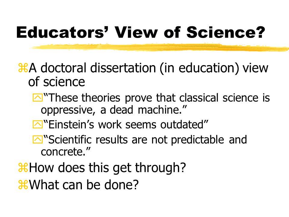 Educators View of Science.
