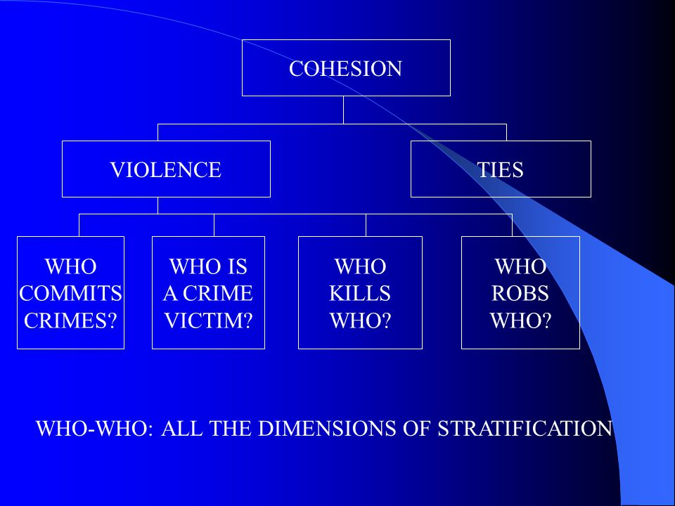 COHESION VIOLENCETIES WHO COMMITS CRIMES. WHO IS A CRIME VICTIM.