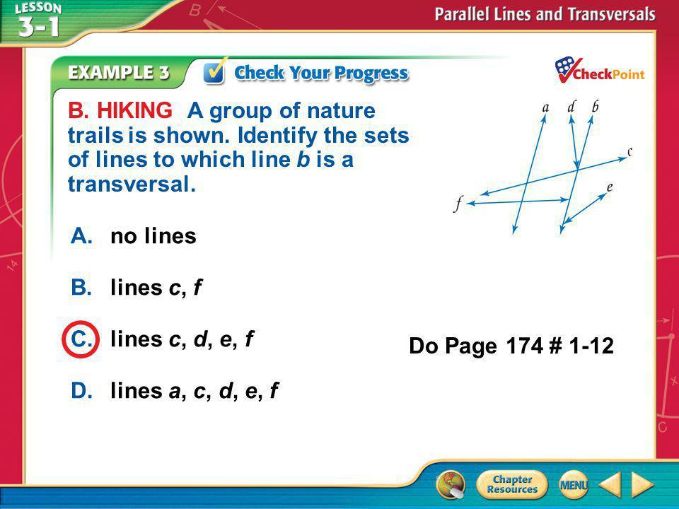Example 3b A.no lines B.lines c, f C.lines c, d, e, f D.lines a, c, d, e, f B.