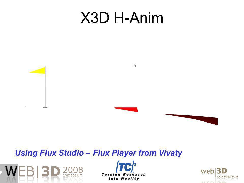 X3D H-Anim Using Flux Studio – Flux Player from Vivaty