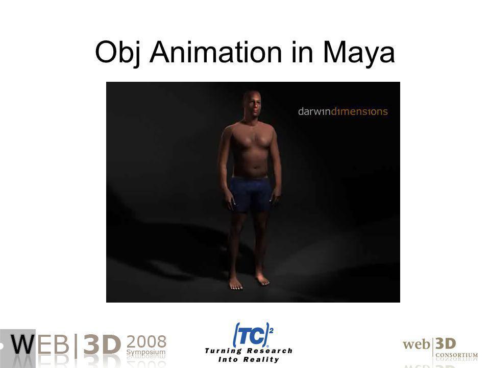 Obj Animation in Maya