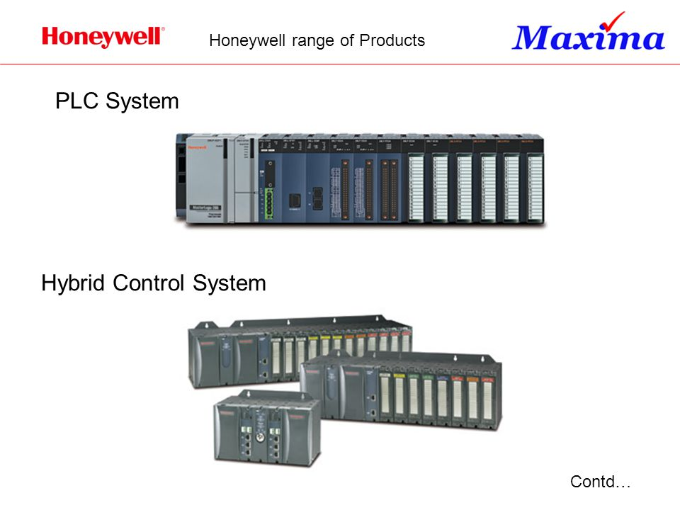 Contd… PLC System Hybrid Control System Honeywell range of Products