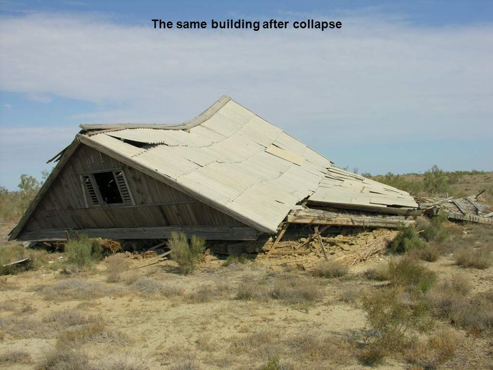 The same building after collapse