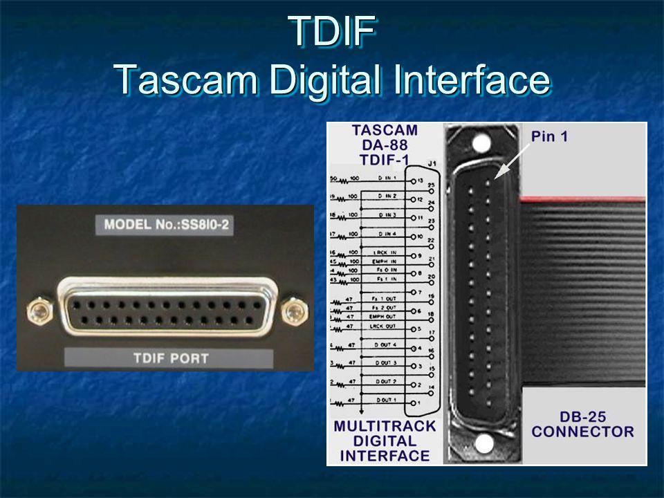 TDIF Tascam Digital Interface