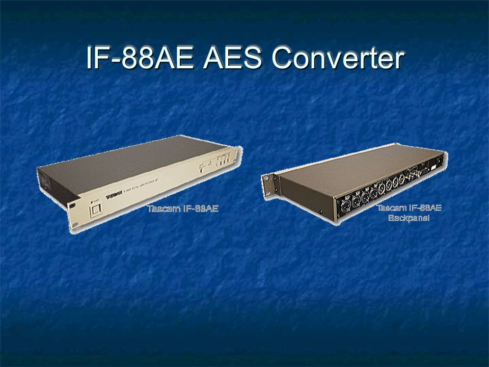IF-88AE AES Converter