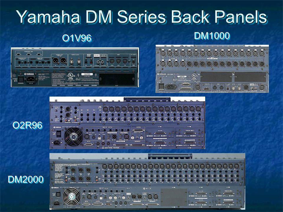 Yamaha DM Series Back Panels O1V96 DM1000 O2R96 DM2000