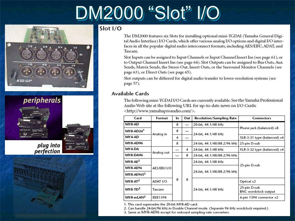 DM2000 Slot I/O