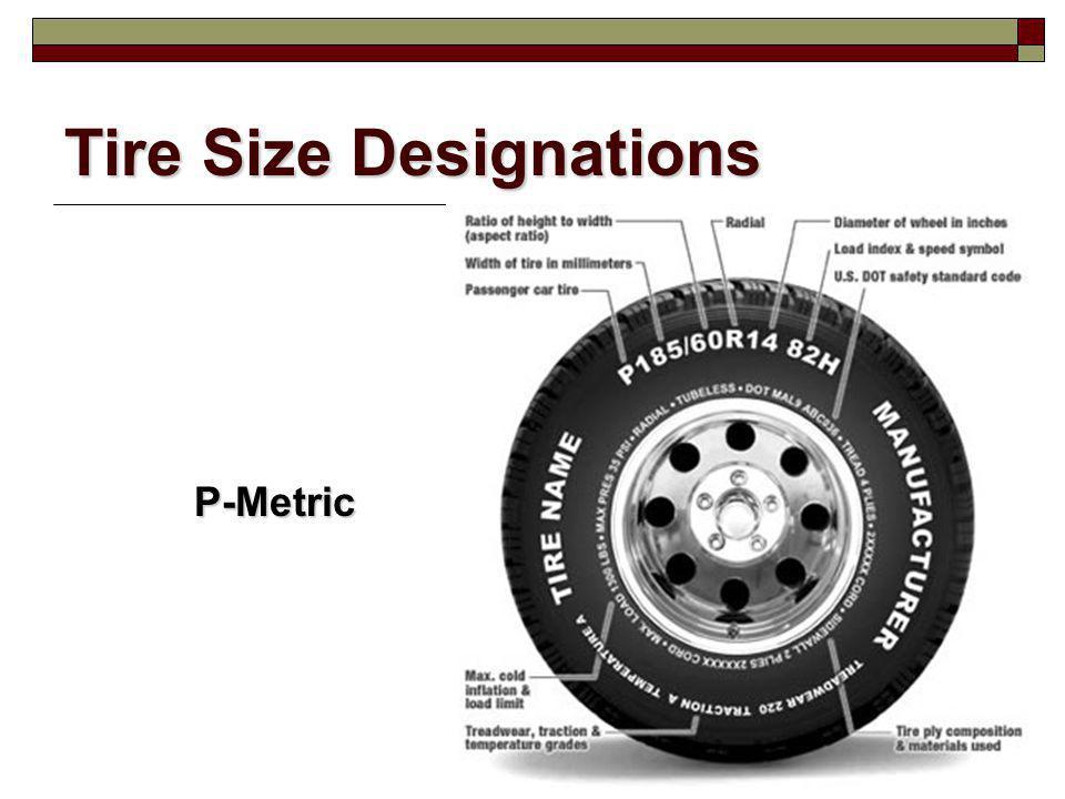 Tire Size Designations P-Metric