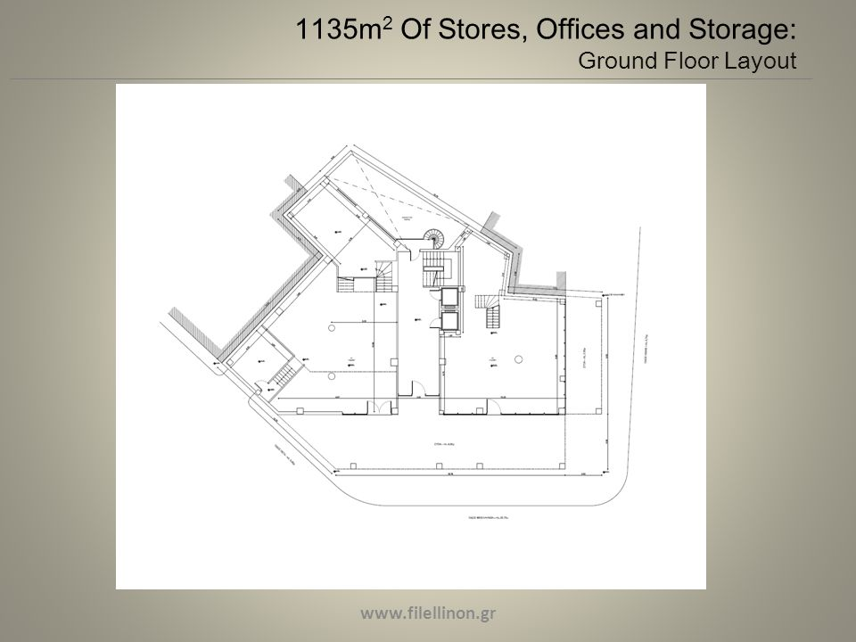 1135m 2 Of Stores, Offices and Storage: Ground Floor Layout www.filellinon.gr