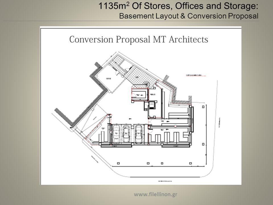 1135m 2 Of Stores, Offices and Storage: Basement Layout & Conversion Proposal www.filellinon.gr
