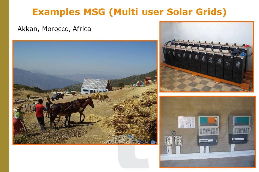 Examples MSG (Multi user Solar Grids) Akkan, Morocco, Africa