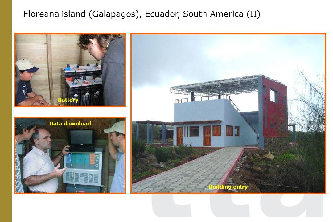 Building entry Data download Battery Floreana island (Galapagos), Ecuador, South America (II)
