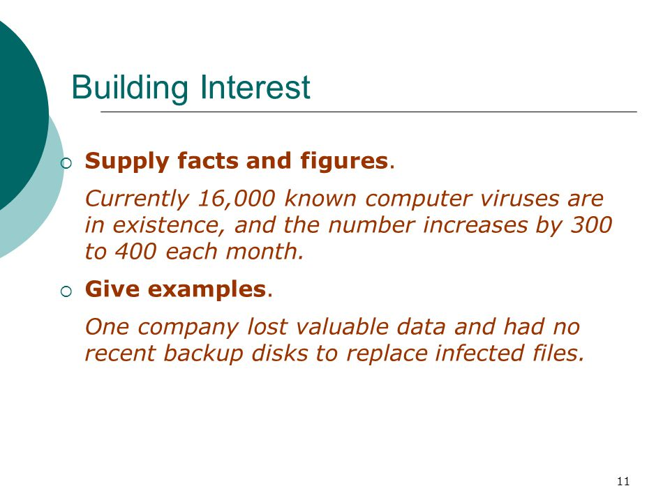 11 Building Interest Supply facts and figures.