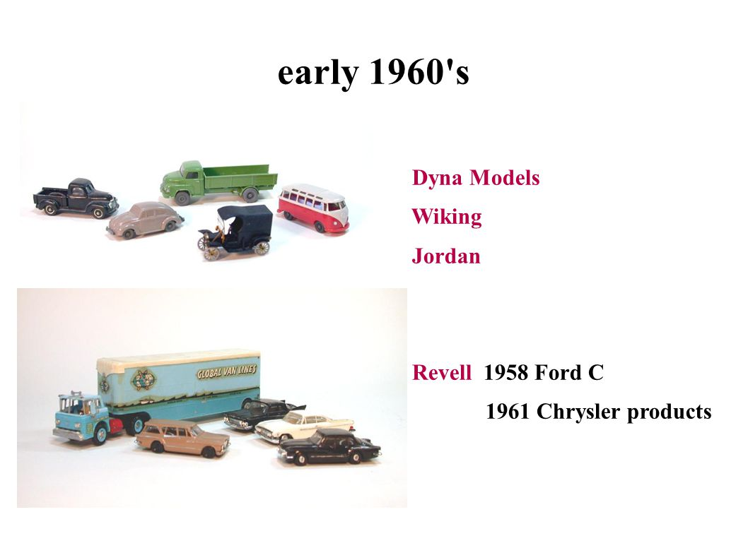 early 1960 s Dyna Models Wiking Jordan Revell 1958 Ford C 1961 Chrysler products