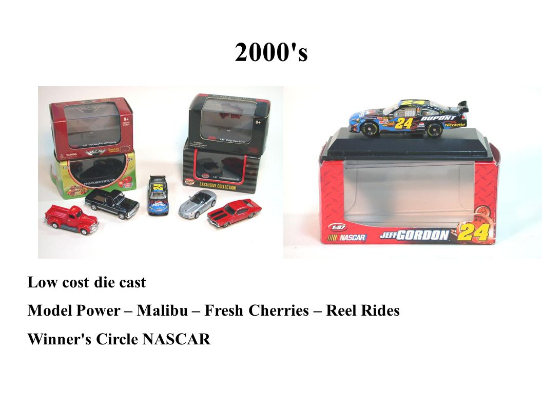 2000 s Low cost die cast Model Power – Malibu – Fresh Cherries – Reel Rides Winner s Circle NASCAR