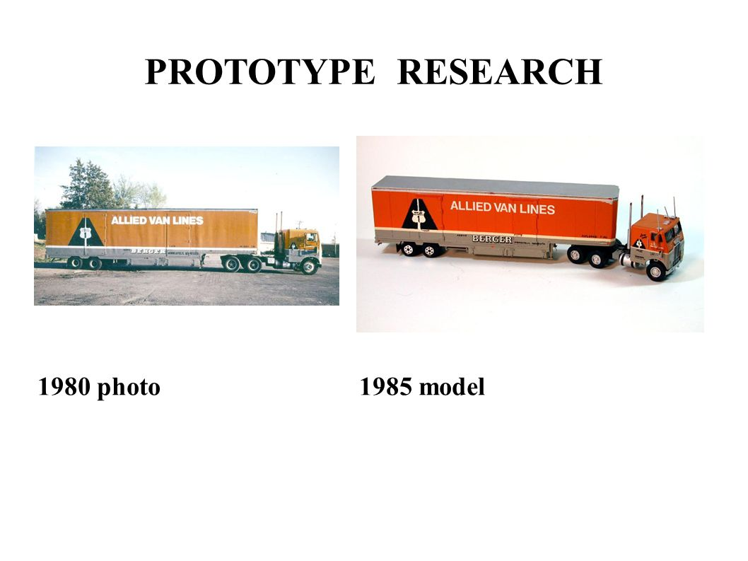 PROTOTYPE RESEARCH 1980 photo 1985 model