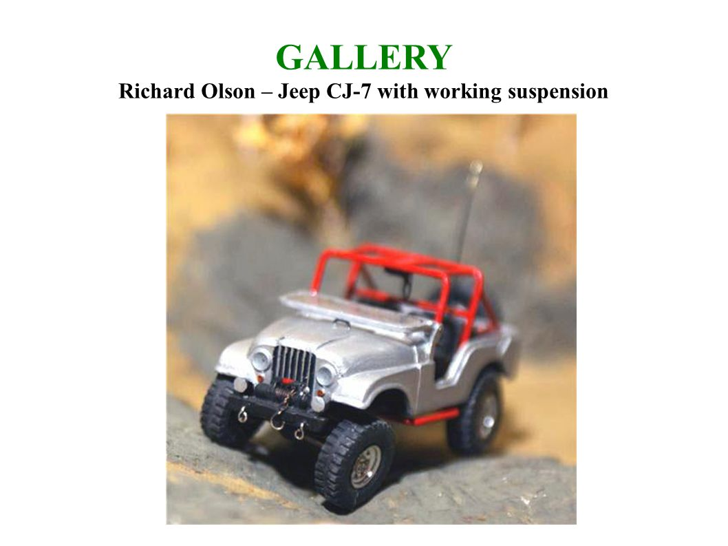 GALLERY Richard Olson – Jeep CJ-7 with working suspension