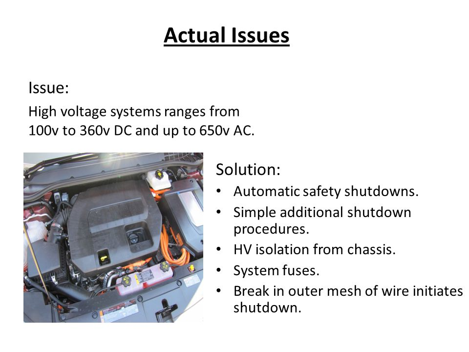 Actual Issues Solution: Automatic safety shutdowns.