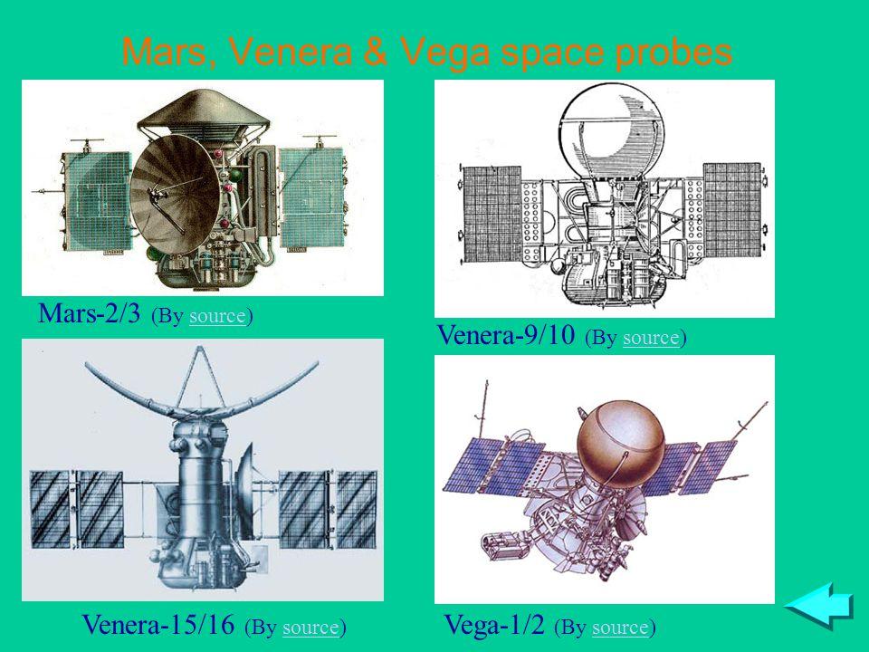 Mars, Venera & Vega space probes Mars-2/3 (By source)source Venera-15/16 (By source)source Vega-1/2 (By source)source Venera-9/10 (By source)source