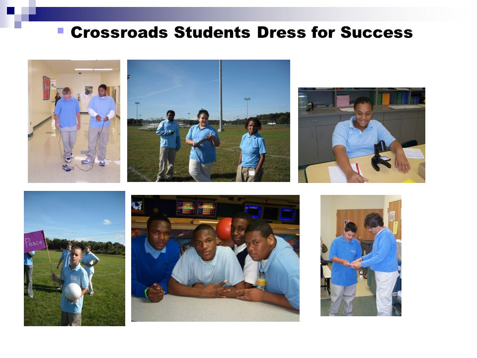 Crossroads Students Dress for Success