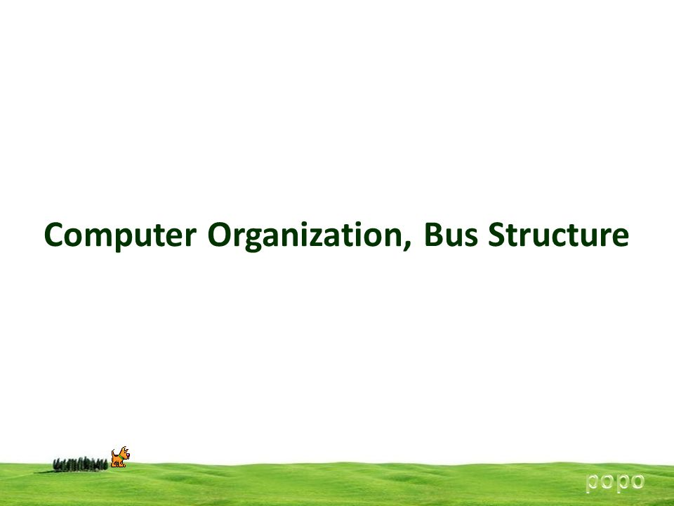 Computer Organization, Bus Structure