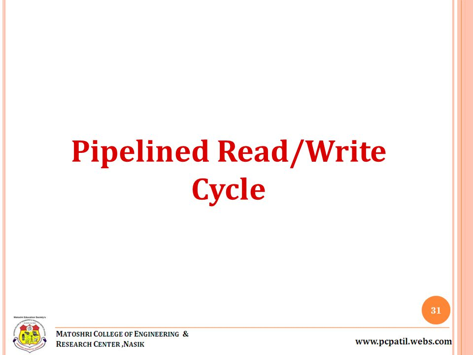 Pipelined Read/Write Cycle 31
