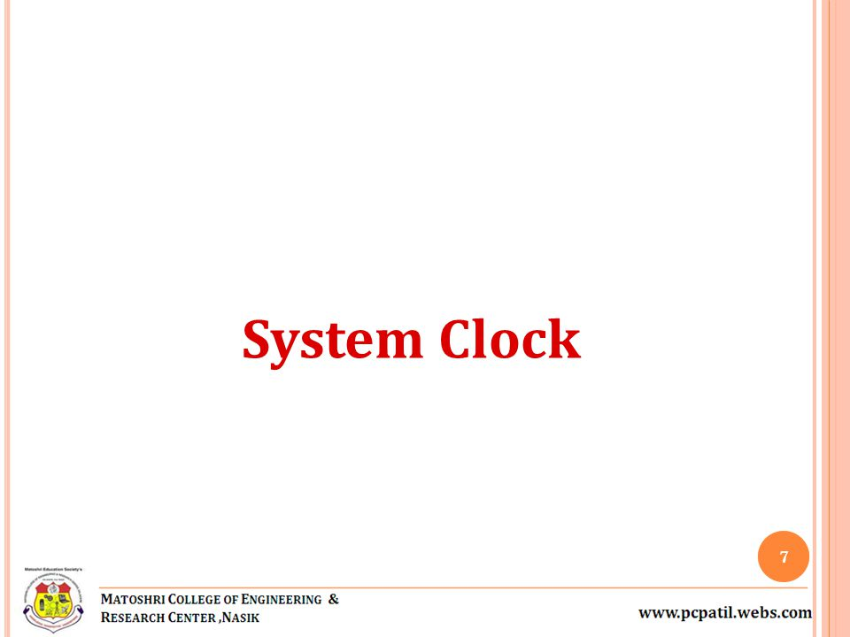 System Clock 7