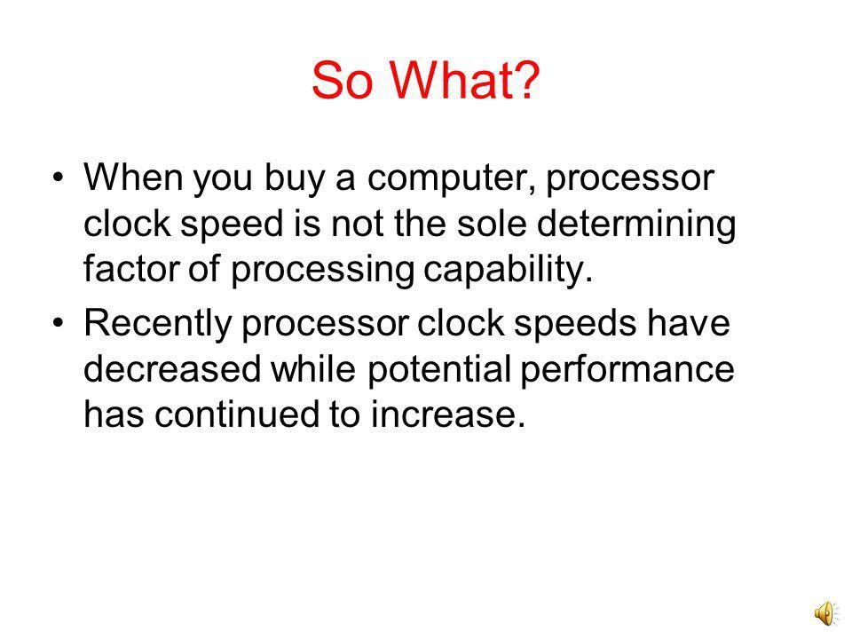Intel Performance Architectural Improvements