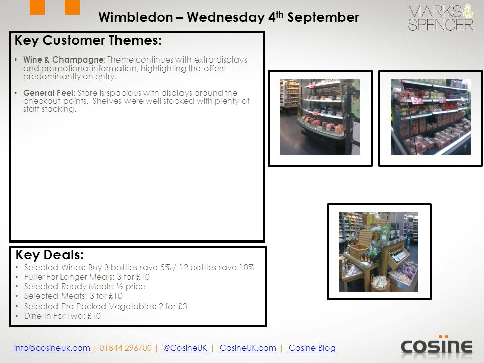 Key Customer Themes : NEW By Sainsburys: POS is situated throughout the store highlighting Sainsburys food items.