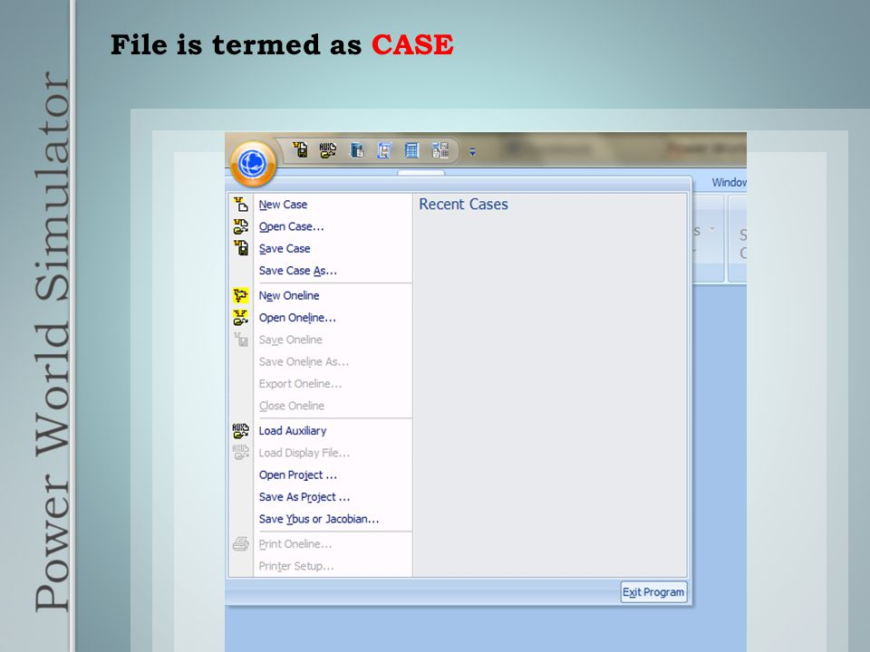 File is termed as CASE