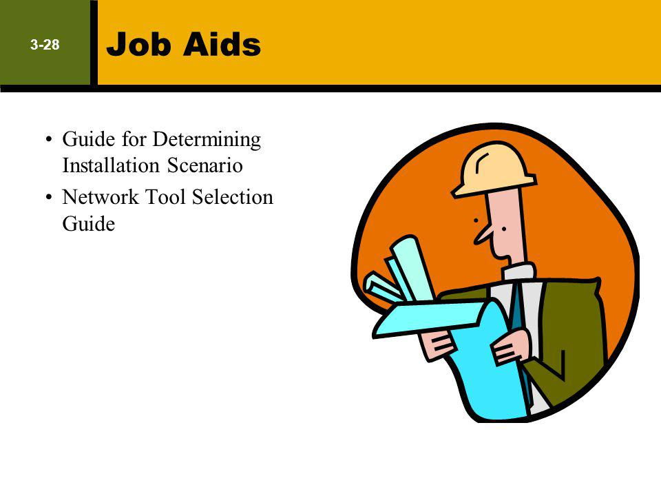Job Aids Guide for Determining Installation Scenario Network Tool Selection Guide 3-28