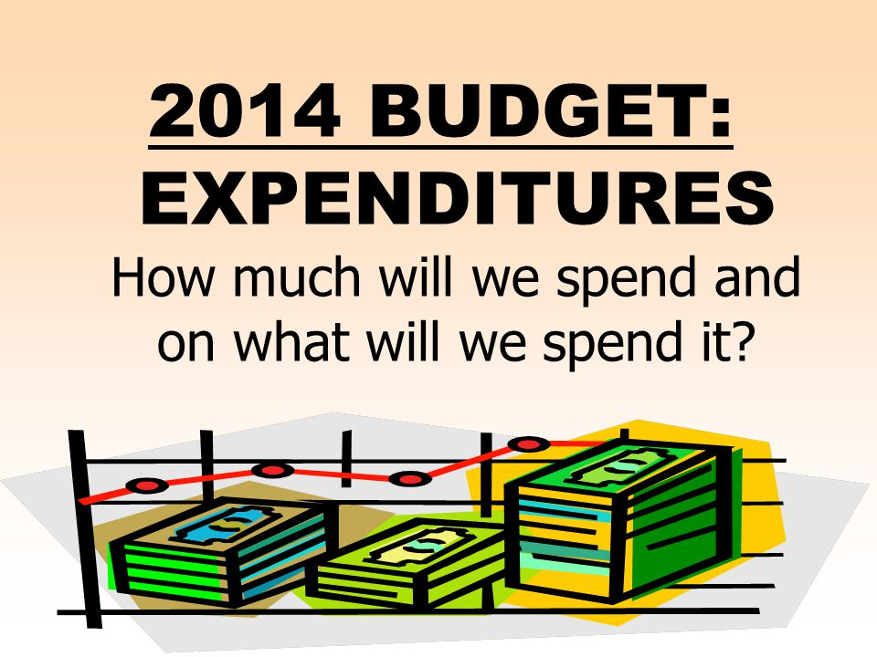 2014 BUDGET: EXPENDITURES How much will we spend and on what will we spend it?