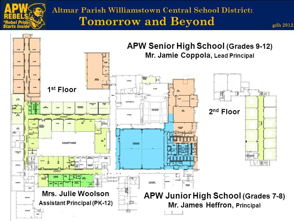 Altmar Parish Williamstown Central School District: Tomorrow and Beyond gdh 2012 APW Senior High School (Grades 9-12) Mr. Jamie Coppola, Lead Principa