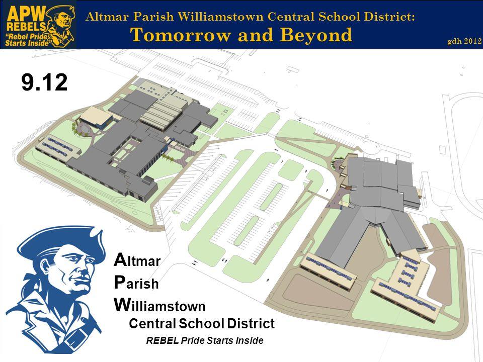 Altmar Parish Williamstown Central School District: Tomorrow and Beyond gdh 2012 A ltmar P arish W illiamstown Central School District REBEL Pride Sta