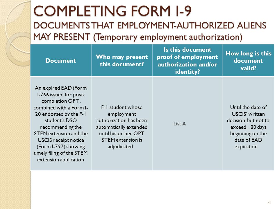 Form I Employment Eligibility Verification Form Ppt Download