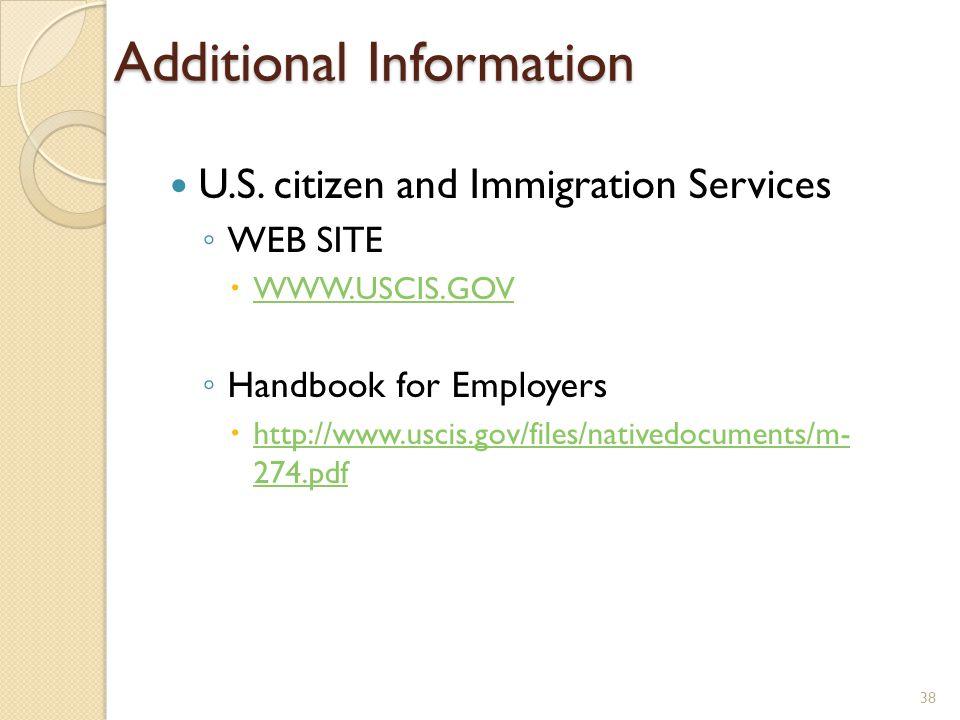 Additional Information U.S.