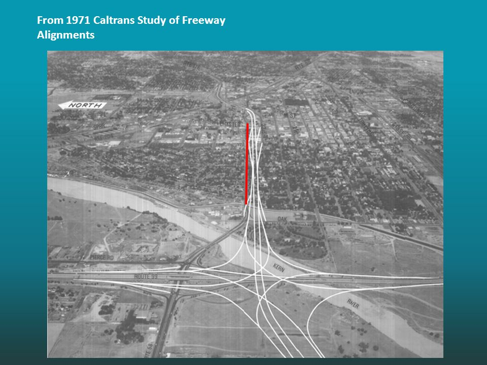 From 1971 Caltrans Study of Freeway Alignments