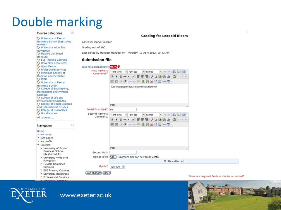 Double marking
