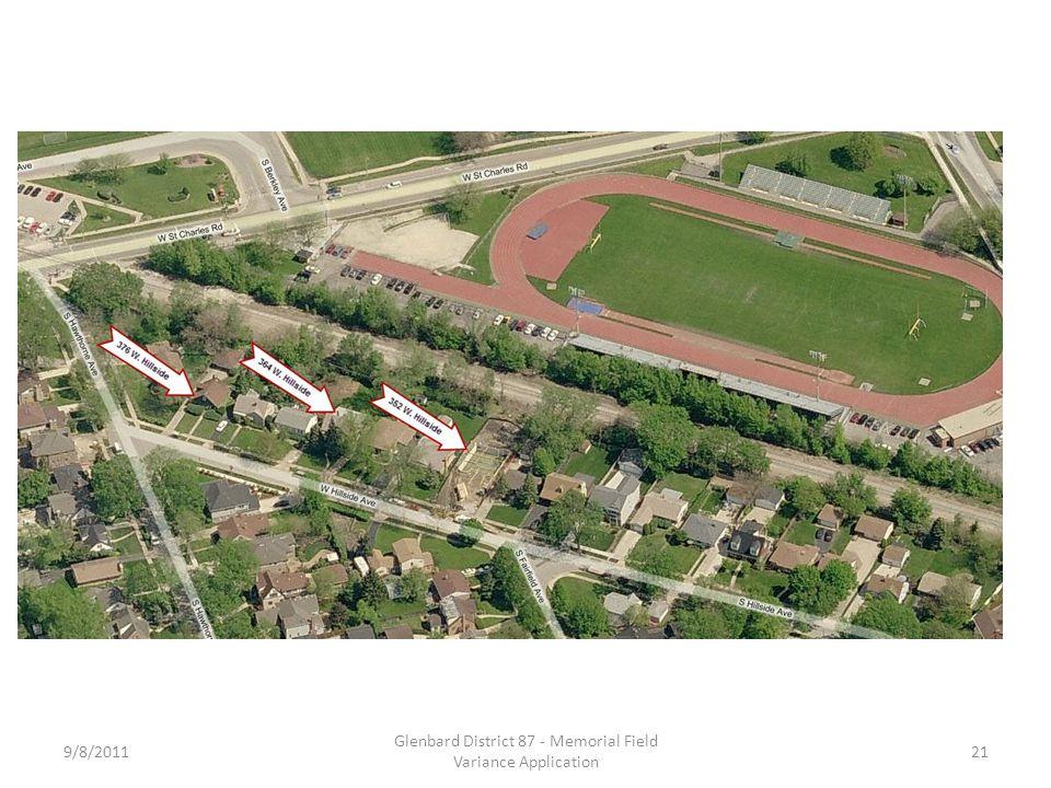 9/8/2011 Glenbard District 87 - Memorial Field Variance Application 21
