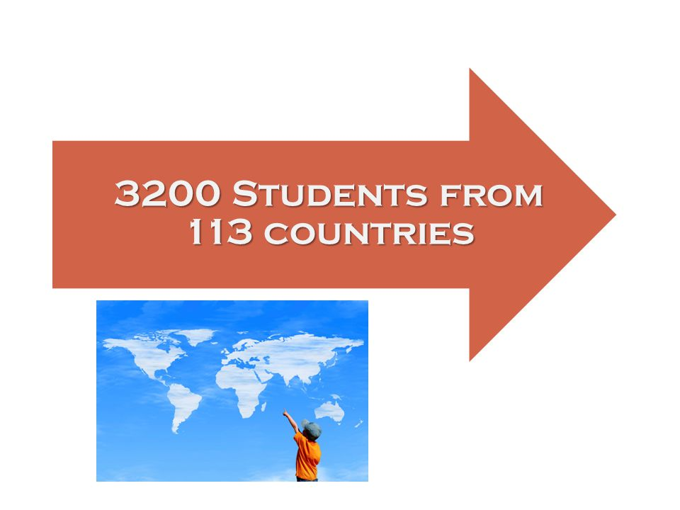 3200 Students from 113 countries