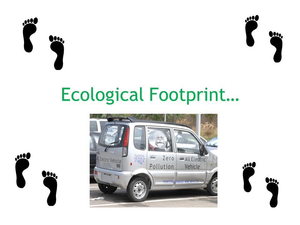 Ecological Footprint…