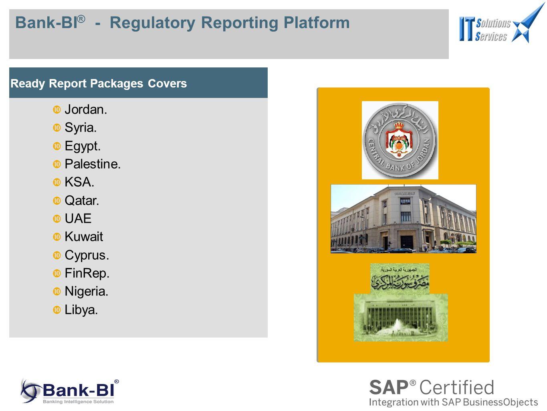 Bank-BI ® - Regulatory Reporting Platform Ready Report Packages Covers Jordan.