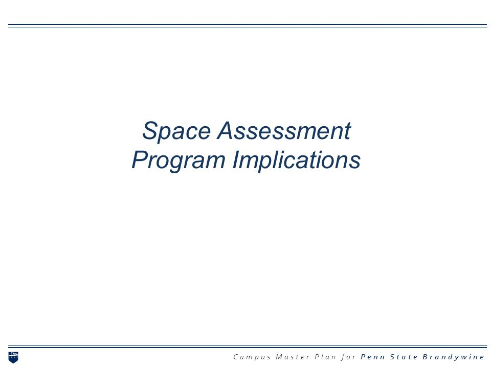 Campus Master Plan for Penn State Brandywine Space Assessment Program Implications